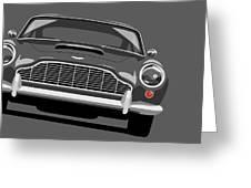 Aston Martin Db5 Greeting Card