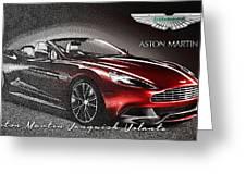 Aston Martin Vanquish Volante  Greeting Card