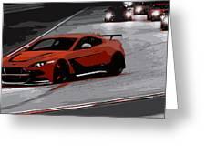 Aston Martin Vantage Gt12 Greeting Card