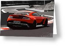 Aston Martin Vantage Gt12 - Trackday Greeting Card