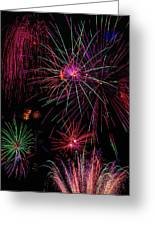 Astonishing Fireworks Greeting Card