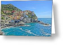 Astonishing Magnificient Manarola In Cinque Terre Greeting Card