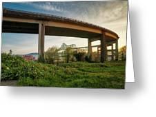 Astoria Bridge Sunrise Greeting Card