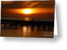 Astoria Oregon Sunset Greeting Card