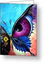 Astral Butterfly. Soul - Memory - Mind Greeting Card