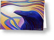 Astral Raven Greeting Card by Brian  Commerford