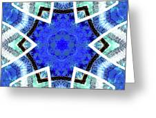 Astral Star Mandala Greeting Card