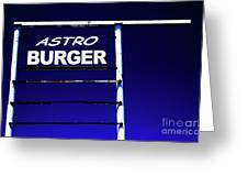Astro Burger Greeting Card