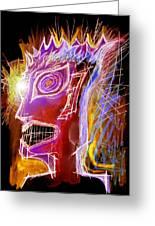 Astroface Firehead Greeting Card