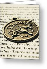 Astrological Definition In Taurus Greeting Card