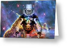 Astronaut Disintegration Greeting Card