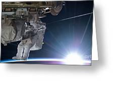 Astronaut Terry Virts Eva Greeting Card