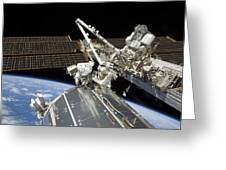 Astronauts Perform A Series Of Tasks Greeting Card by Stocktrek Images