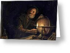 Astronomer 1655 Greeting Card