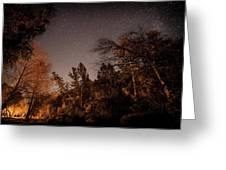 Astrophotography - Sequoia Rv Ranch - California Greeting Card