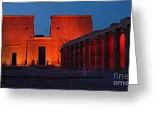Aswan Temple Of Philea Egypt Greeting Card
