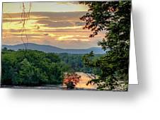 At A Bend In The River Greeting Card by Kendall McKernon