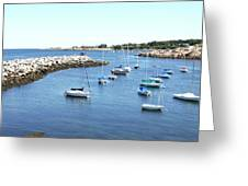 At Anchor In Rockport Ma Harbor Greeting Card