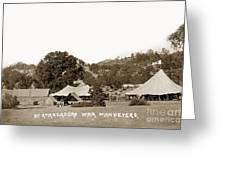 At Atascadero War Manuevers Circa 1915 Greeting Card