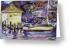 At Boat House 3 Greeting Card