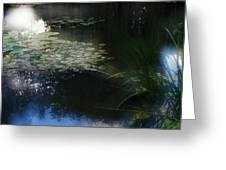 At Claude Monet's Water Garden 3 Greeting Card