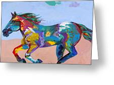 At Full Gallop Greeting Card