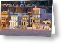 At Home On Santa Monica Beach Greeting Card