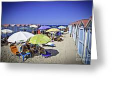 At Mondello Beach - Sicily Greeting Card