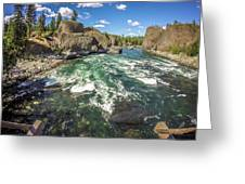 At Riverside Bowl And Pitcher State Park In Spokane Washington Greeting Card