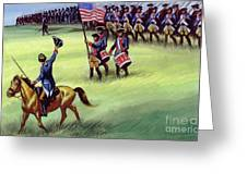 At Saratoga The Colonists Won Victory Greeting Card