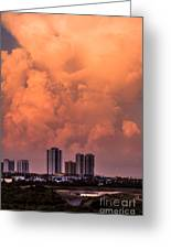 At Sunset In West Palm Beach Greeting Card