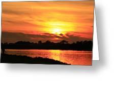 At Sunset  Greeting Card