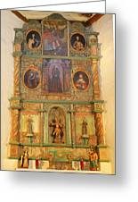 At The Alter San Miguel Mission Santa Fe New Mexico Greeting Card