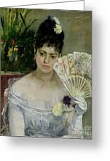 At The Ball Greeting Card by Berthe Morisot