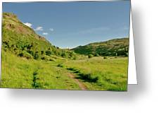 At The Base Of The Ancient Volcano. Greeting Card