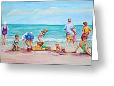 At The Beach Greeting Card