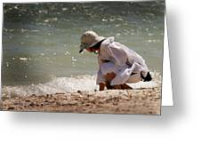 At The Beach Watercolor Greeting Card