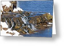 At The Bottom Of The Falls Greeting Card