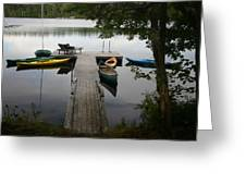 At The Country Dock Greeting Card