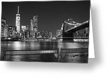 At The Edge Of Brooklyn Greeting Card