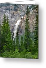 At The Edge Of The Falls Greeting Card