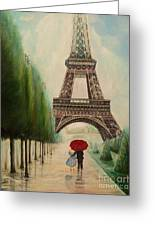 At The Eiffel Tower Greeting Card