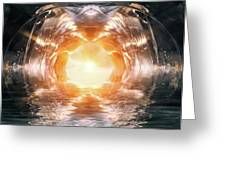 At The End Of The Tunnel Greeting Card