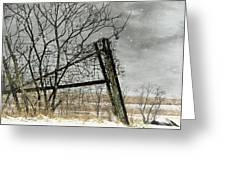 At The End...fence Post Greeting Card by Stephanie Calhoun