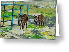 At The Farm Greeting Card
