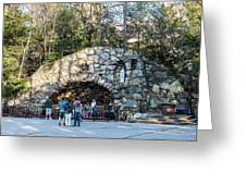 At The Grotto Greeting Card