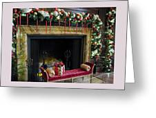 At The Hearth Of Christmas Greeting Card