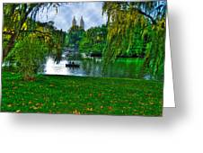 At The Lake In Central Park Greeting Card