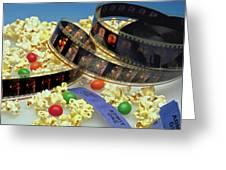 At The Movies  Greeting Card