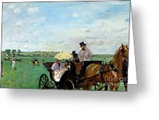 At The Races In The Countryside,  Greeting Card